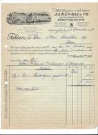 F105 - Facture Rechnung 1927 Zofingen Strengelbach Künzli Aktiengeselischaft Pour Schulthess Sierre - Suisse