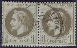 N°25 Très Belle Paire Du 1c, TB - 1863-1870 Napoléon III. Laure