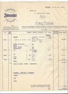 F106 - Facture Rechnung 1927 Olten Sunlicht Seifenfabrik Savonnerie Pour Schulthess Sierre - Suisse