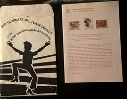 ITALIA 1979 GIORNATA DEL FRANCOBOLLO - 6. 1946-.. Repubblica