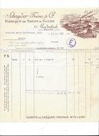 F107 - Facture Rechnung 1927 Madretsch Bienne Schnyder Frères Fabrique De Savon & Soude Pour Schulthess Sierre - Suisse