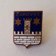 CROATIA CITY CAKOVEC  COAT OF ARMS  INSIGNE BROCHE PIN BADGE DISTINTIVO - Cities