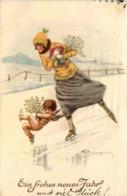 Frau Beim Schlittschuhlaufen - Wintersport
