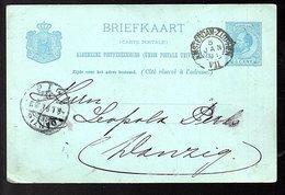 Privé-druk W. Heybroek  1891 Amsterdam-Zutphen > Leoplolds Berls Danzig (some Minor Defects) (BP-75) - Entiers Postaux