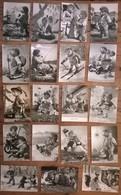 Lot De 19 Cartes Postales Du Hérisson MECKI Noir & Blanc - Mecki