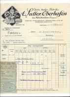 F109 - Facture Rechnung 1927 Oberhofen Bei Münchwilen Fabrik Sutter  Pour Schulthess Sierre - Suisse