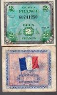Lot De Deux Billets De 2fr émis Par Les Américains En 1944 (PPP16753) - 1871-1952 Antichi Franchi Circolanti Nel XX Secolo