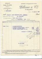 F110 - Facture Rechnung 1927 St-Maurice Denrées Coloniales En Gros Pellissier Pour Schulthess Sierre - Suisse