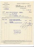 F111 - Facture Rechnung 1927 St-Maurice Denrées Coloniales En Gros Pellissier Pour Schulthess Sierre - Suisse