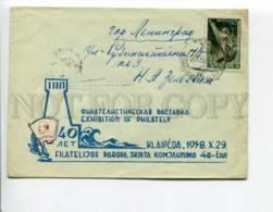 294608 USSR 1958 Y 40 Y Of Komsomol Klaipeda Real Posted COVER SPACE Stamp - 1923-1991 UdSSR