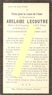 DP. ADELAIDE LECOUTRE ° COURTRAI 1853 -+ 1913 - Religion & Esotérisme