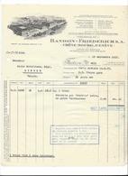 F112 - Facture Rechnung 1927 Chêne-Bourg Randon-Friederich  Pour Schulthess Sierre - Suisse