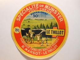 TGE88012 - étiquette De Fromage De Munster Avec Vaches - RM - ROGER MARSOT à LE THILLOT Vosges 88 - Fromage