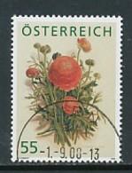 ÖSTERREICH Mi.Nr. 2760 Treuebonusmarke: Ranunkel -used - 1945-.... 2a Repubblica