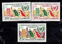 SÉNÉGAL 210/212* Anniversaire De L'admission Du Sénégal Aux Nations-Unies - Sénégal (1960-...)