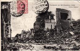 Thematiques Italie Messina Terremoto Dei 28 Dicembre 1908 Cachet Timbre 10 11 1911 - Messina