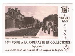 Pinon / Foire à La Paperasse 1999 / Vue De La Gare D'Anizy-Pinon - France