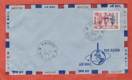 VIETNAM DU SUD FDC MUSIQUE 25 DONG SUR 7 DONG DE 1974 DE SAIGON - Viêt-Nam