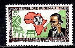 SÉNÉGAL 213* 25f Multicolore Réunion De La Première Sous-commission Pour L'Afrique De L'U.I.T. - Sénégal (1960-...)