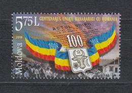 Moldova Moldawien MNH** 2018  Centenary Of Union Of Bessarabia With Romania Mi 1069 - Moldawien (Moldau)