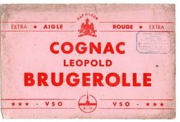 Buvard Cognac Léopold Brugerolle Napoléon Aigle Rouge Epicerie Gallais Rouen - Alimentaire