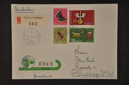 1953 ZNr. Z40 Auf R-Brief - Se-Tenant