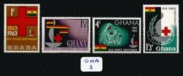 GHA YT 131/134 En Xx - Ghana (1957-...)