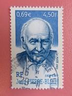 Timbre France YT 3431 - Hommage à Jean-Pierre Bloch - Portrait De L'homme Politique - 2001 - France