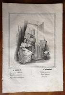 Partition Ancienne Guitare Romance AMOUR ET CHARITE Mr Lemoine Melle Puget Guido Lithographie - Partitions Musicales Anciennes
