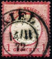 KIEL 1872, NACHVERWENDETER SH-STPL AUF DR 19, CV 13,- - Schleswig-Holstein