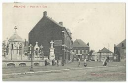 CPA Aulnoye Place De La Gare - Aulnoye