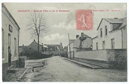 CPA Aulnoye Ecole Des Filles Rue Berlaimont - Aulnoye