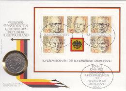 BRD Block 18 - Bundespräsidenten Auf Numisbrief, 2 DM, Theodor Heuss (Battenberg/Schön BRD 125 1981 F) - [ 7] 1949-… : RFA - Rép. Féd. D'Allemagne