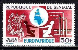 SÉNÉGAL Aer42* 50f Lie-de-vin, Violet-brun, Bleu Et Violet Anniversaire De L'Europafrique - Sénégal (1960-...)