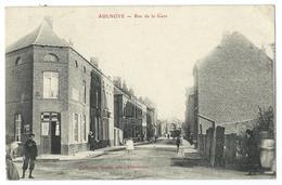 CPA Aulnoye Rue De La Gare - Aulnoye