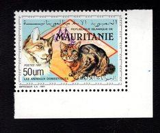 700013935 MAURITANIA POSTFRIS MINT NEVER HINGED POSTFRISCH EINWANDFREI  SCOTT 693 DOMESTICATED ANIMALS  CATS - Mauritanie (1960-...)