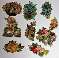 9 Grande Image Découpis Fleurs Bouquet De Fleurs Composition Florale Roses - Flowers