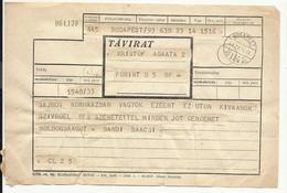 Hungary, Telegram,  1961. - Télégraphes