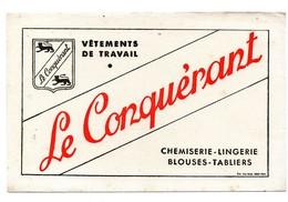 Buvard Vêtements De Travail Le Conquérant Chemiserie Lingerie Blouses Tabliers - Buvards, Protège-cahiers Illustrés