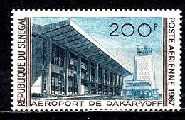 SÉNÉGAL Aer58* 200f Brun-rouge, Gris Et Gris-bleu Aéroport De Dakar-Yoff - Sénégal (1960-...)