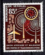 SÉNÉGAL Aer37* 85f Multicolore 2ème Anniversaire De L'U.A.M.P.T. - Sénégal (1960-...)
