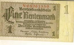 Germany 1 Rentenmark  1937-01-30 - [ 4] 1933-1945 : Third Reich
