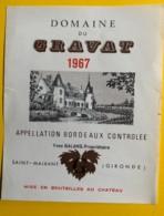 9691 - Domaine Du Gravat 1967 - Bordeaux