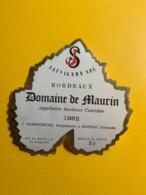 9695 - Sauvignon Sec Domaine De Maurin 1982 - Bordeaux