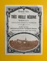 9698 - Très Vieille Réserve Duet Et Fils - Bordeaux