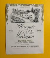 9700 - Marquis De Verduzan 1978 - Bordeaux