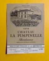 9701 - Château La Pimpinelle  1978 - Bordeaux