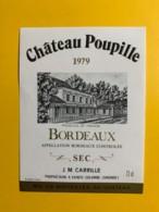 9702 - Château Poupille 1979 - Bordeaux