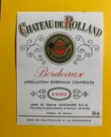 9703 - Château De Rolland Au Son Du Cor 1980 - Bordeaux
