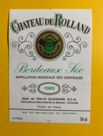 9704 - Château De Rolland Au Son Du Cor 1983 Sec - Bordeaux